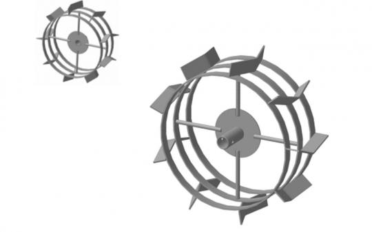 Грунтозацепы 445х180 Форза,Ока,Каскад,Нева d30 втулка (пара) 3 обода  МБ