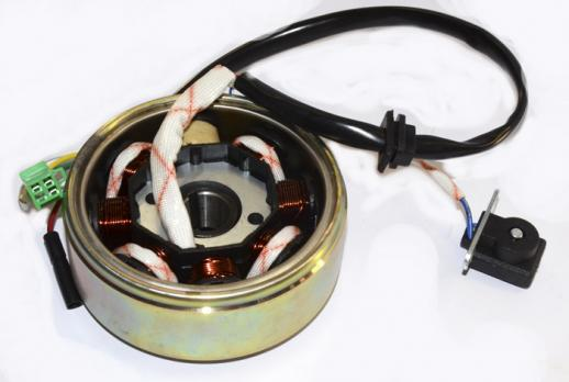 Генератор  150 куб. 7+1 катушка (3+2фишка) 4т.Скутер