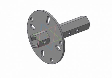 Ступица колеса D24 к МБ шестигр. 4 отв. 165 мм СКМБ.S24.165.4